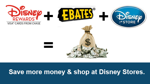 Disney Rewards plus Ebates plus Disney Store equals more money